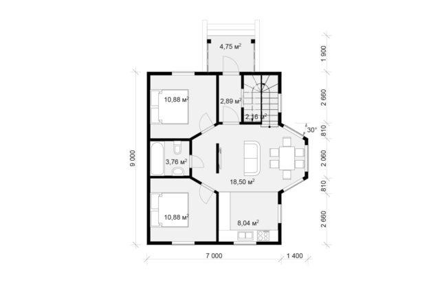 Планировка дома DM17 - фото 1