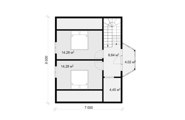 Планировка дома DM17 - фото 2