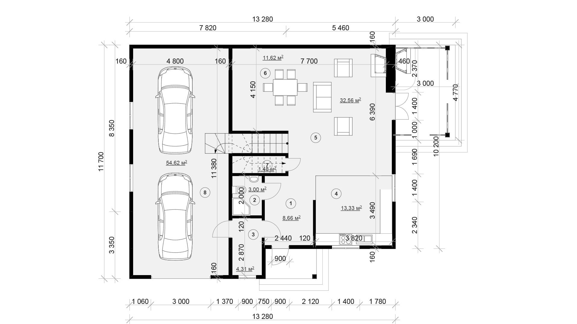 Планировка дома DM18 - фото 1