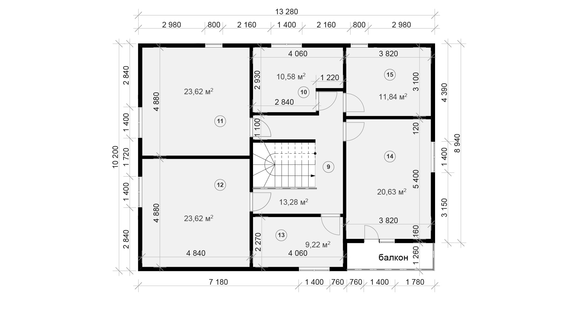 Планировка дома DM18 - фото 2