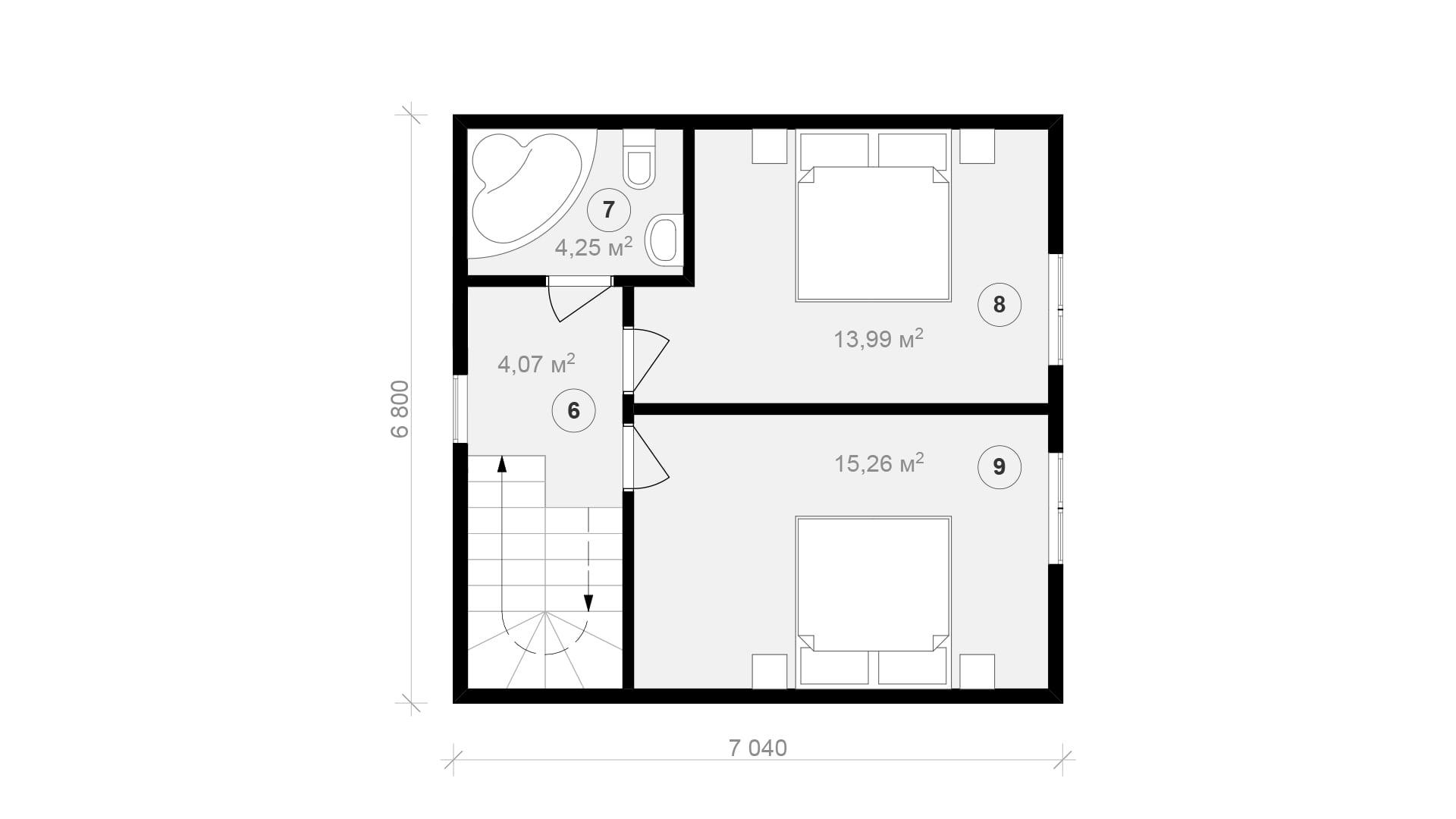 Планировка дома DM19 - фото 2
