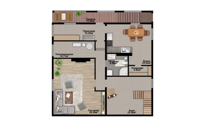 Планировка дома DM27 - фото 1