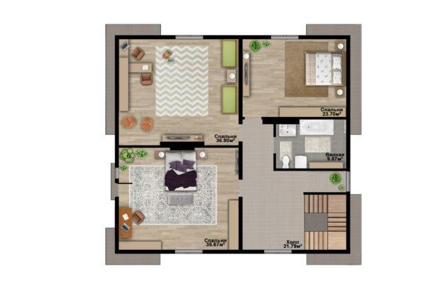 Планировка дома DM27 - фото 2