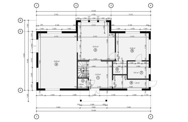 Планировка дома DM6 - фото 1