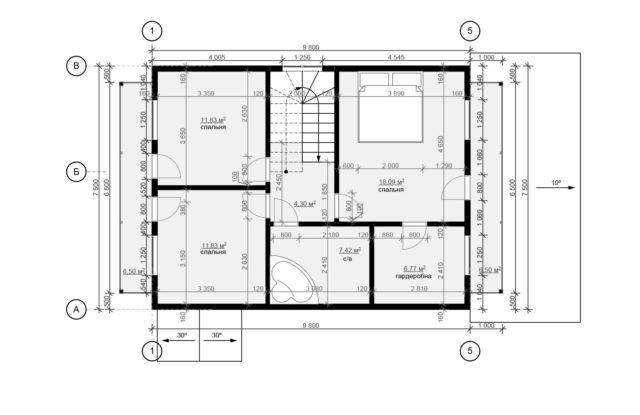 Планировка дома DM7 - фото 2