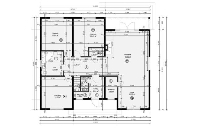 Планировка дома DO6 - фото 1