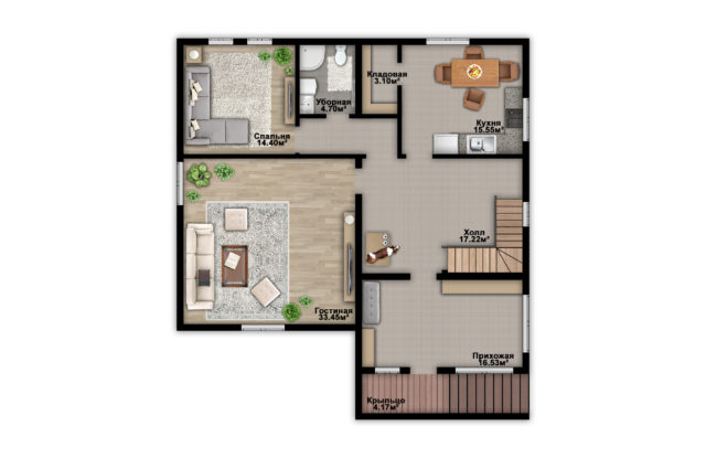 Планировка дома VE14- фото 1