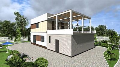 проект дома из сип панелей БРУКЛИН (VE 16)