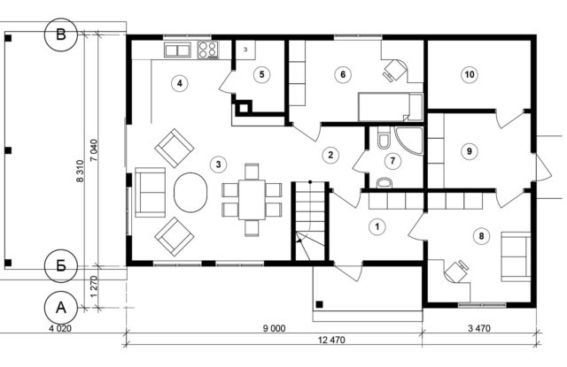 Планировка дома VE2 - фото 1