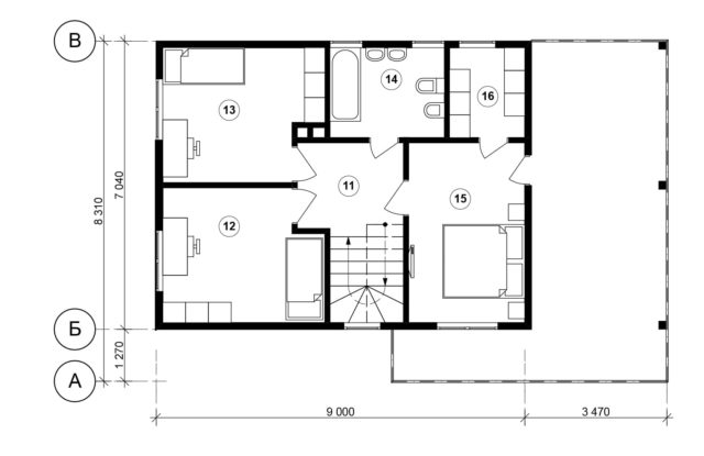 Планировка дома VE2 - фото 2