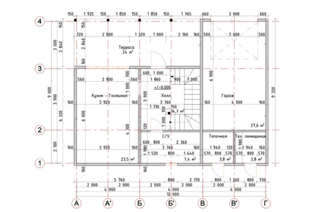 Планировка дома VE3 - фото 1
