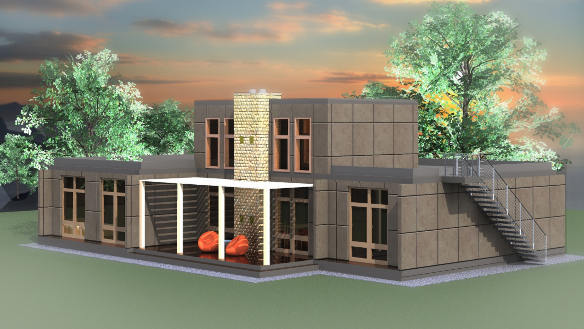 Проект дома VE4
