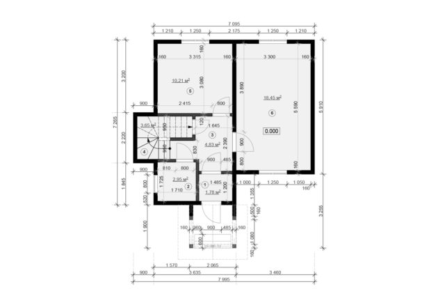 Планировка дома VE5 - фото 1