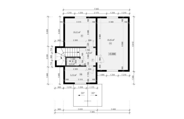 Планировка дома VE5 - фото 2