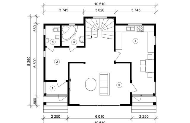 Планировка дома VE6 - фото 1