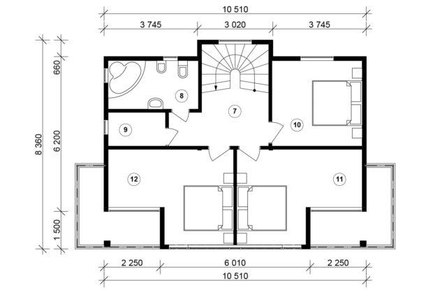 Планировка дома VE6 - фото 2