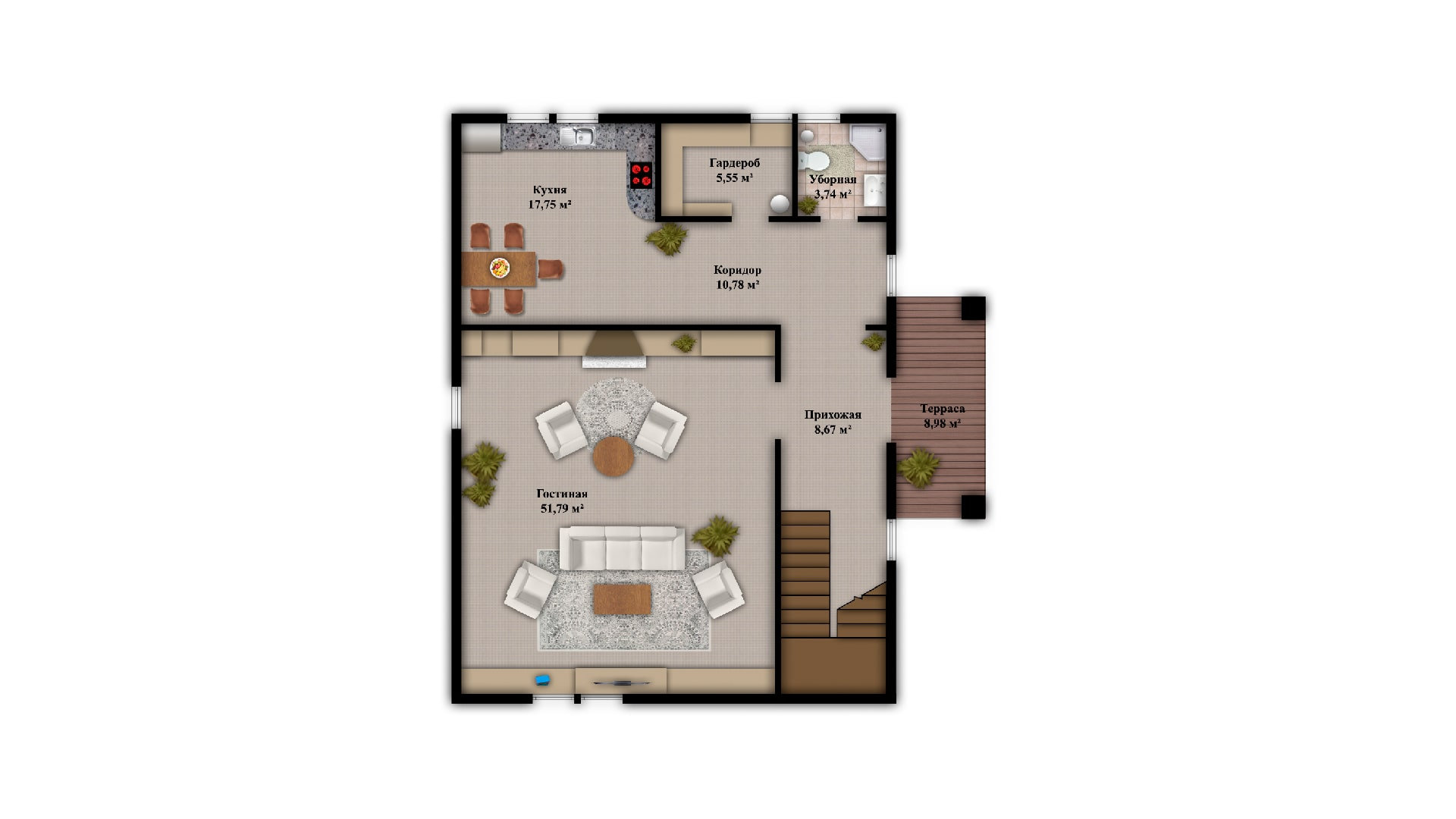 Планировка дома VE8 - фото 1