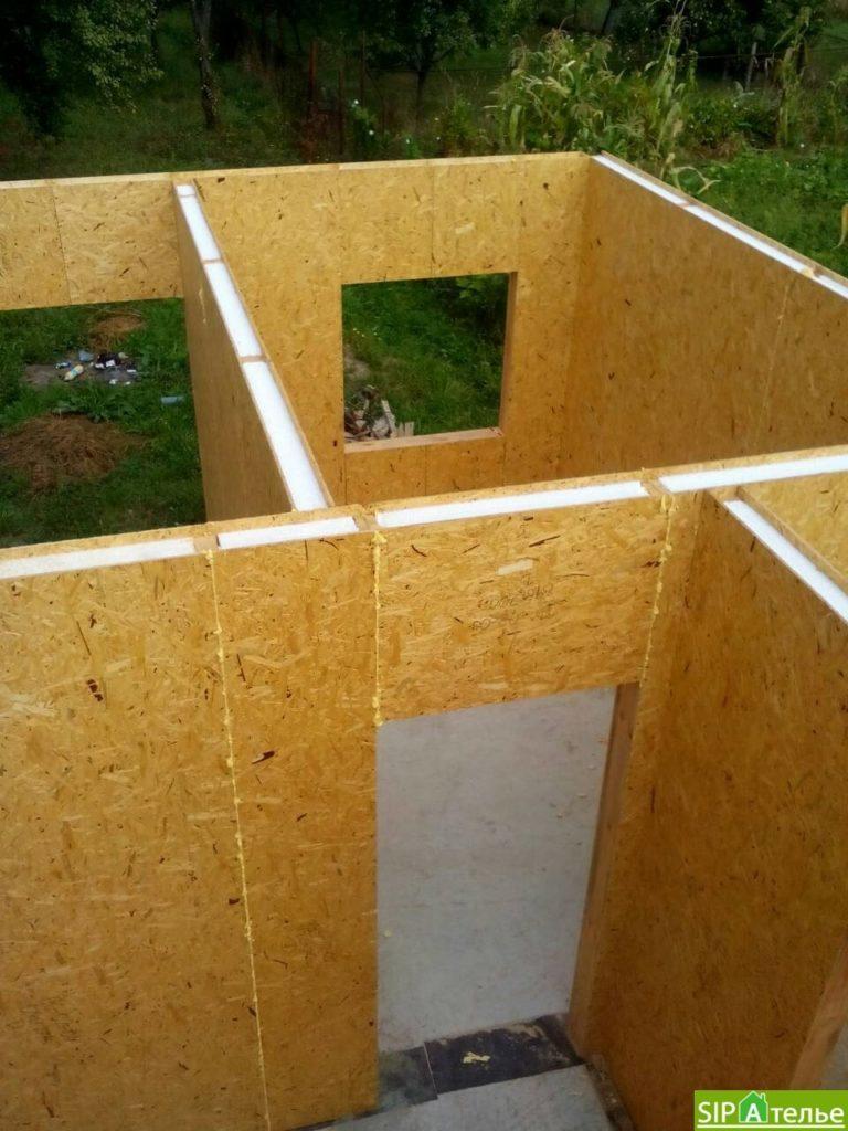 Строительство дома из сип панелей 116.4 м2 в стиле минимализм - фото 9