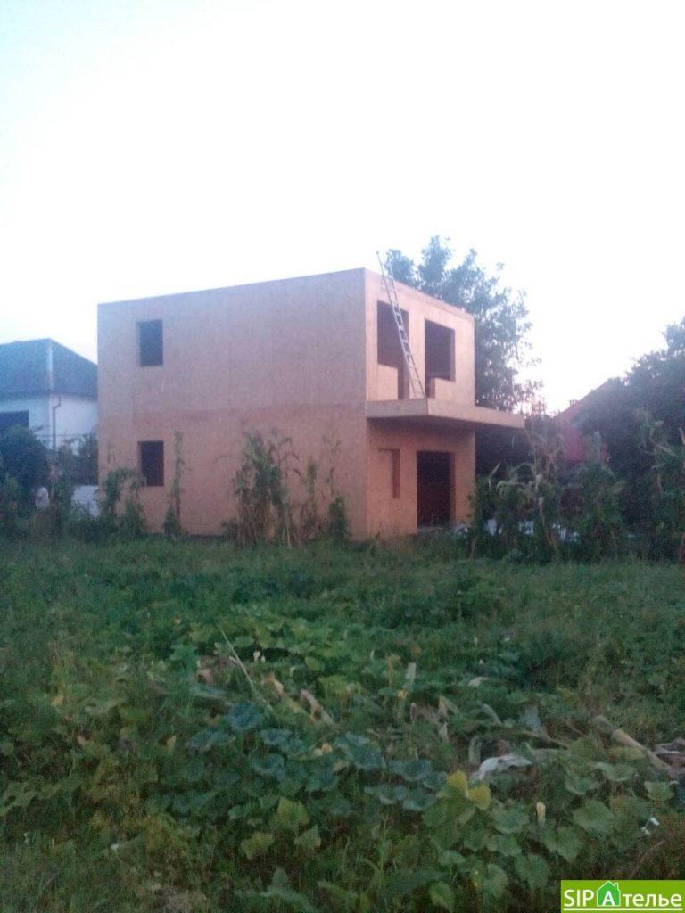 Строительство дома из сип панелей 116.4 м2 в стиле минимализм - фото 10