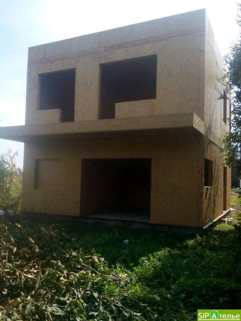 Строительство дома из сип панелей 116.4 м2 в стиле минимализм - фото 13