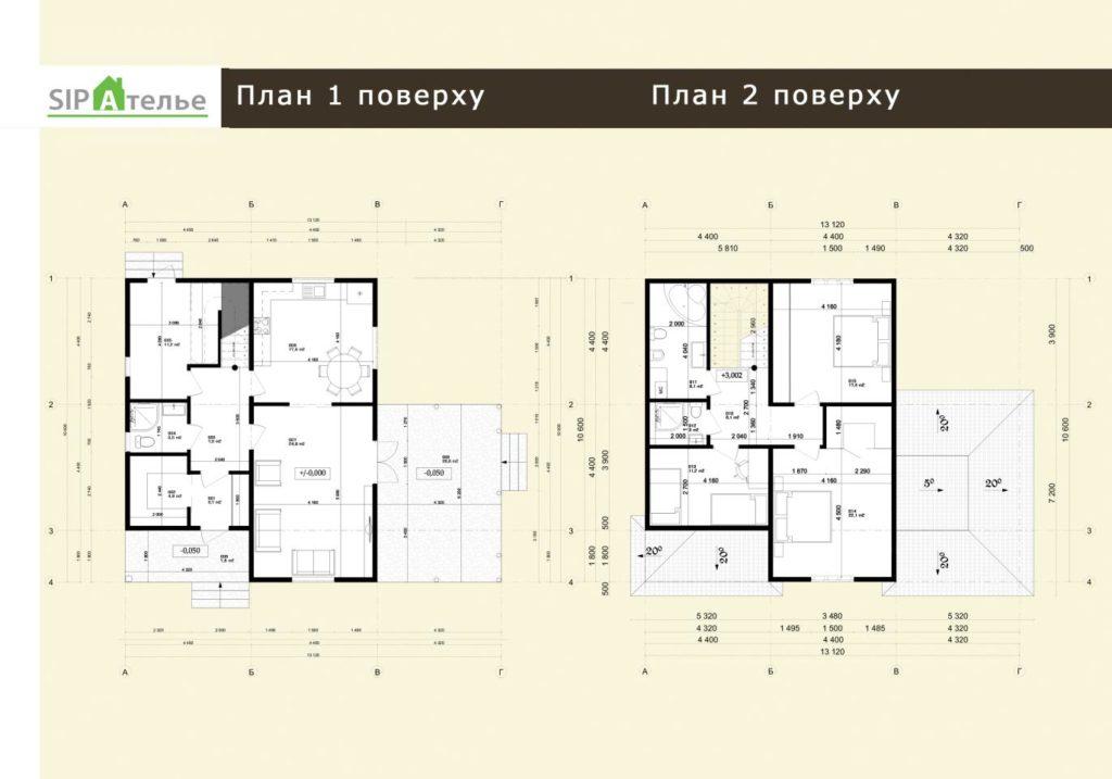 План схема дома из-сип-панелей 171 м2 в поселке Белогородка