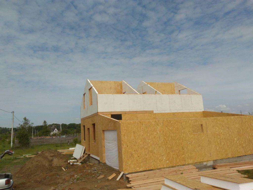 Постройка дома из-сип-панелей 191 м2 в селе Новое - фото 6