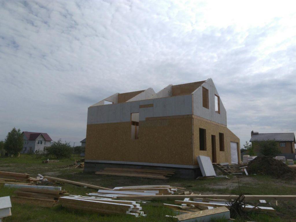 Постройка дома из-сип-панелей 191 м2 в селе Новое - фото 4