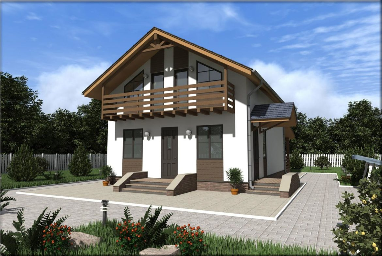 Дом из сип панелей площадью 147м2 с. Осещина