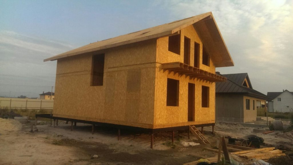 Строительство дома из сип панелей площадью 147м2 с. Осещина - фото 11