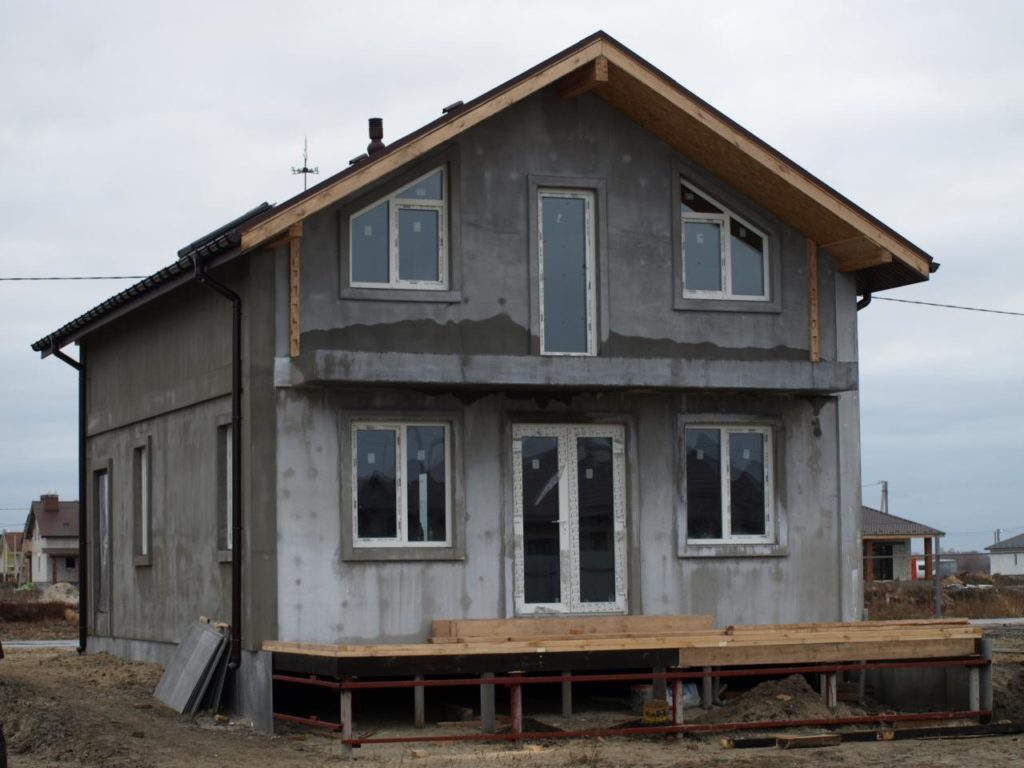 Строительство дома из сип панелей площадью 147м2 с. Осещина - фото 8