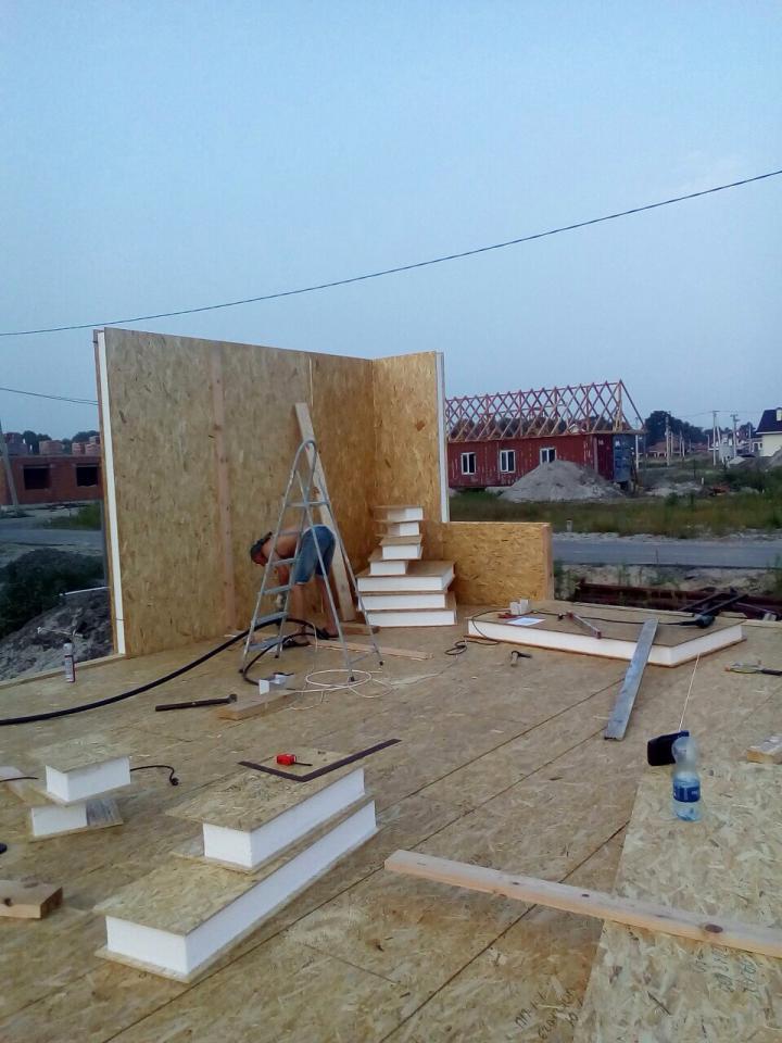 Строительство дома из сип панелей площадью 147м2 с. Осещина - фото 2