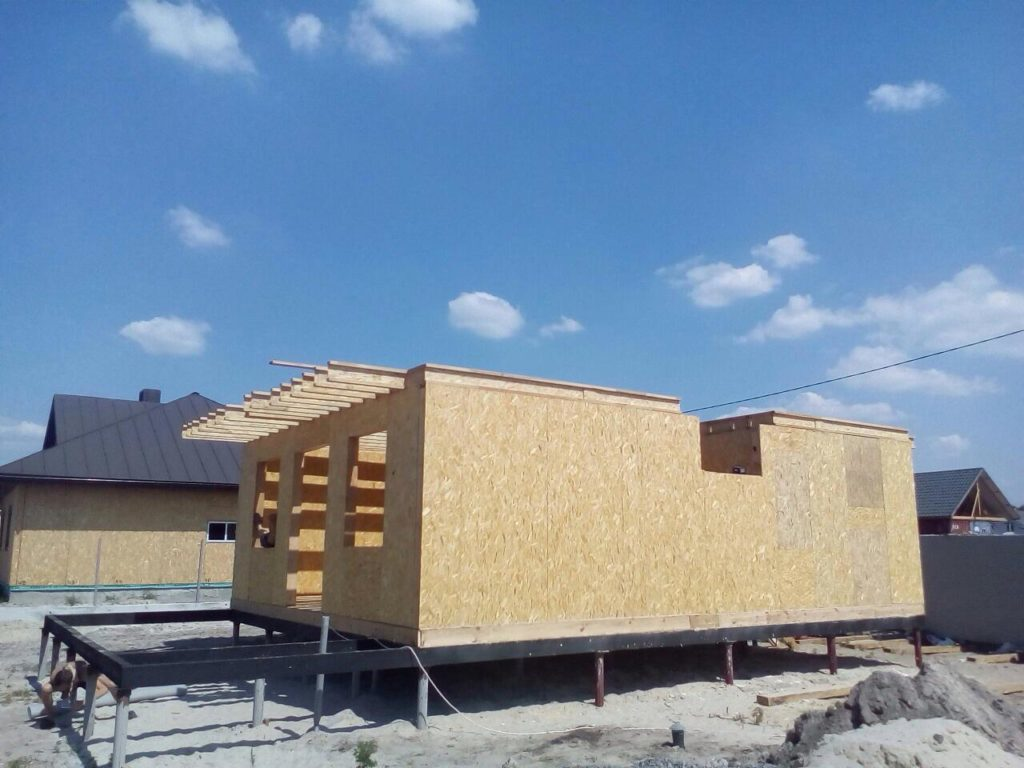 Строительство дома из сип панелей площадью 147м2 с. Осещина - фото 1