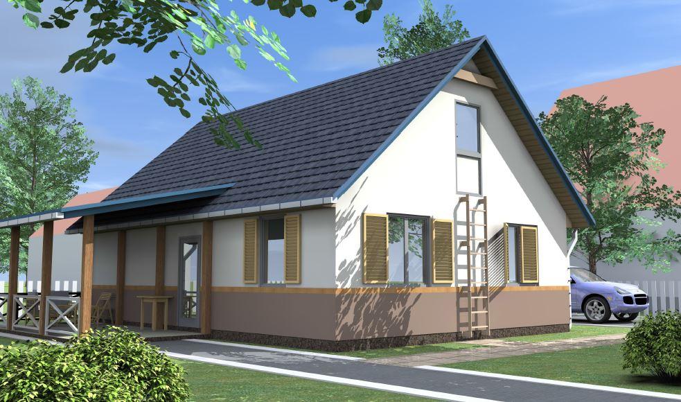 Дом из сип панелей площадью 78 м.кв село Хотяновка - фото 2