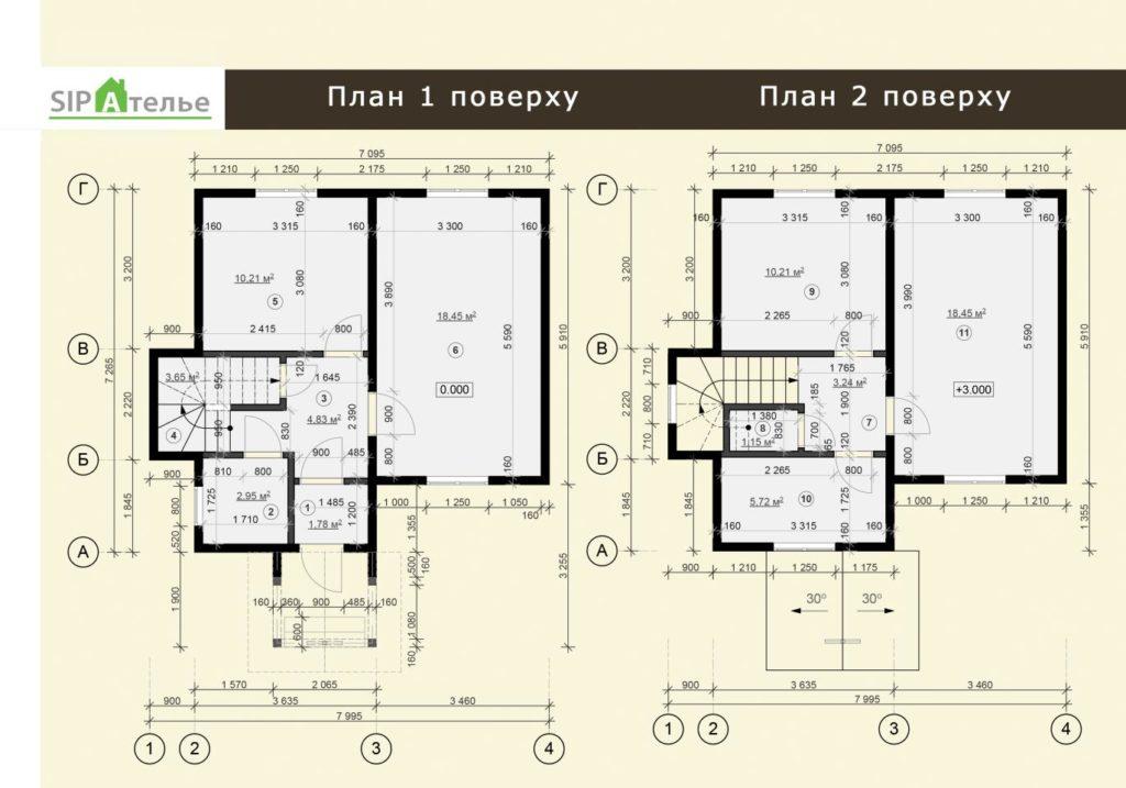 Дом из сип панелей п. Вишневый хуторок 97,7 м2 - фото 6