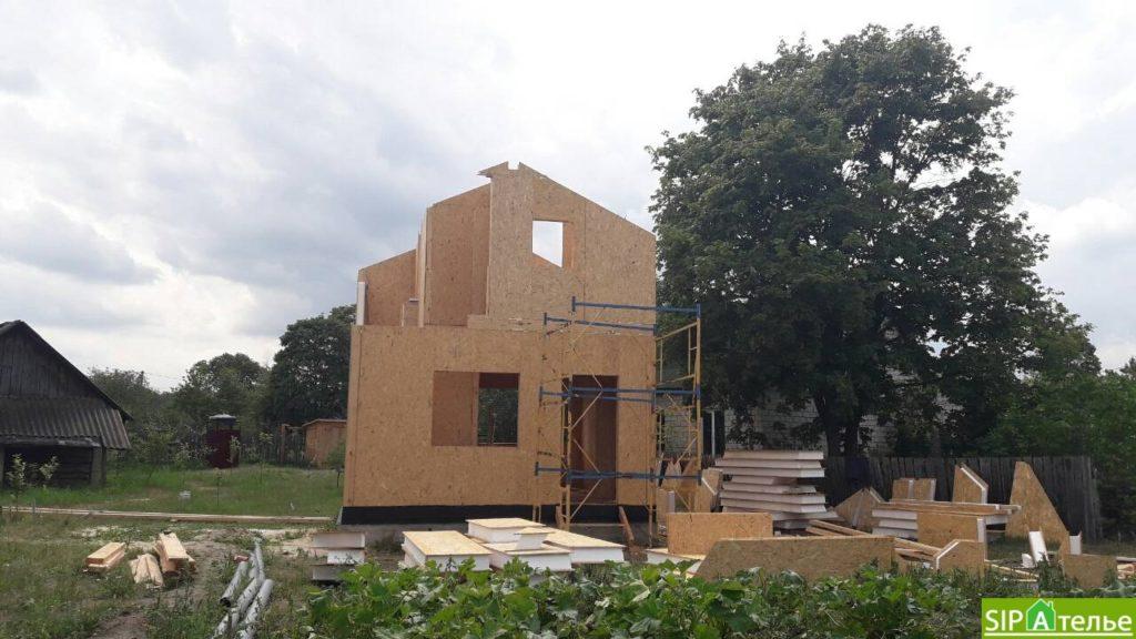 Маленький дом из сип панелей 50м2 для молодой семьи - фото 7