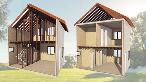 домокомлекты домов из сип панелей