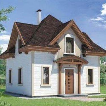 Двухэтажный дачный дом из сип панелей 102,5 М