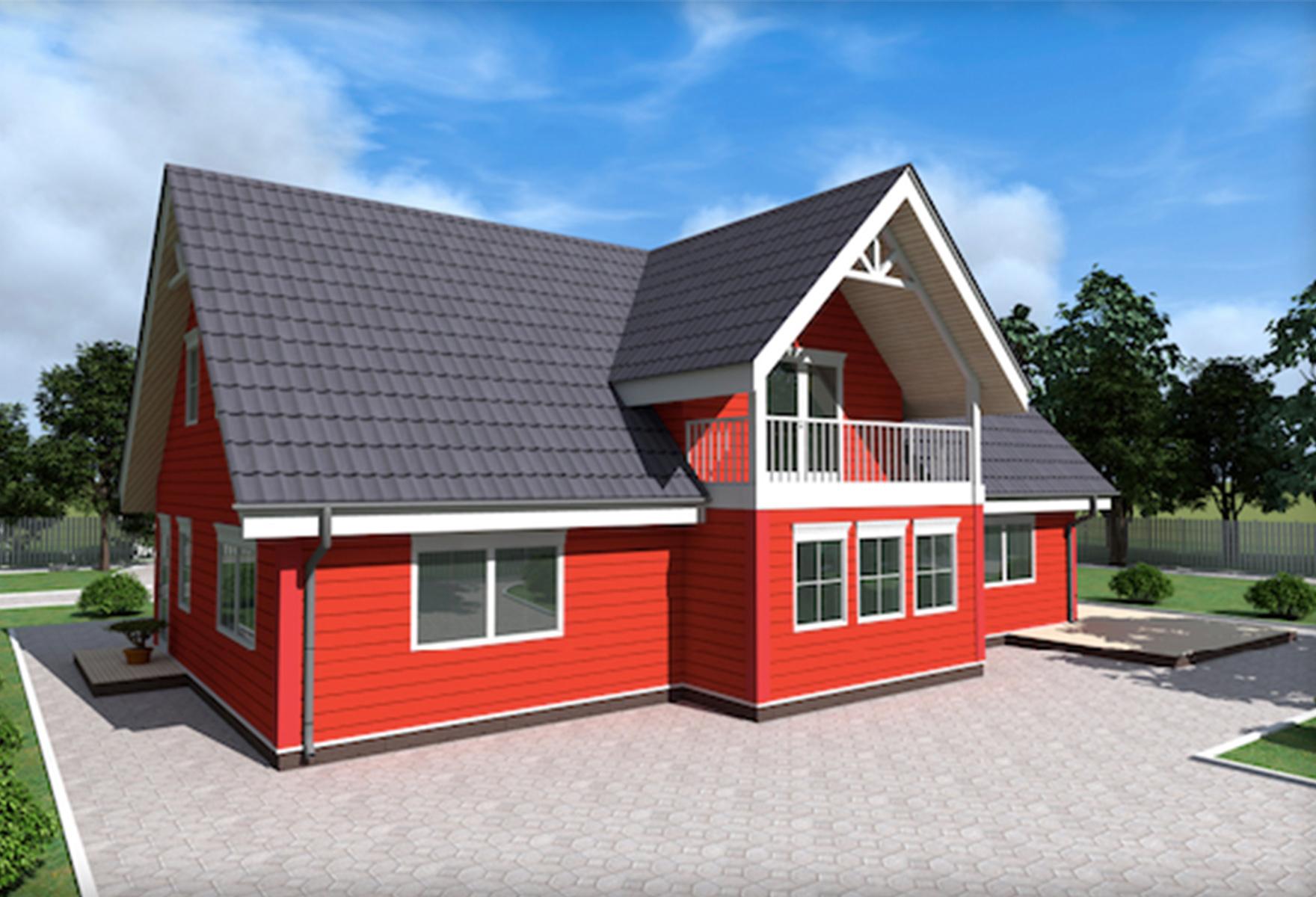 Жилой дом Баер из сип панелей 262,28 М