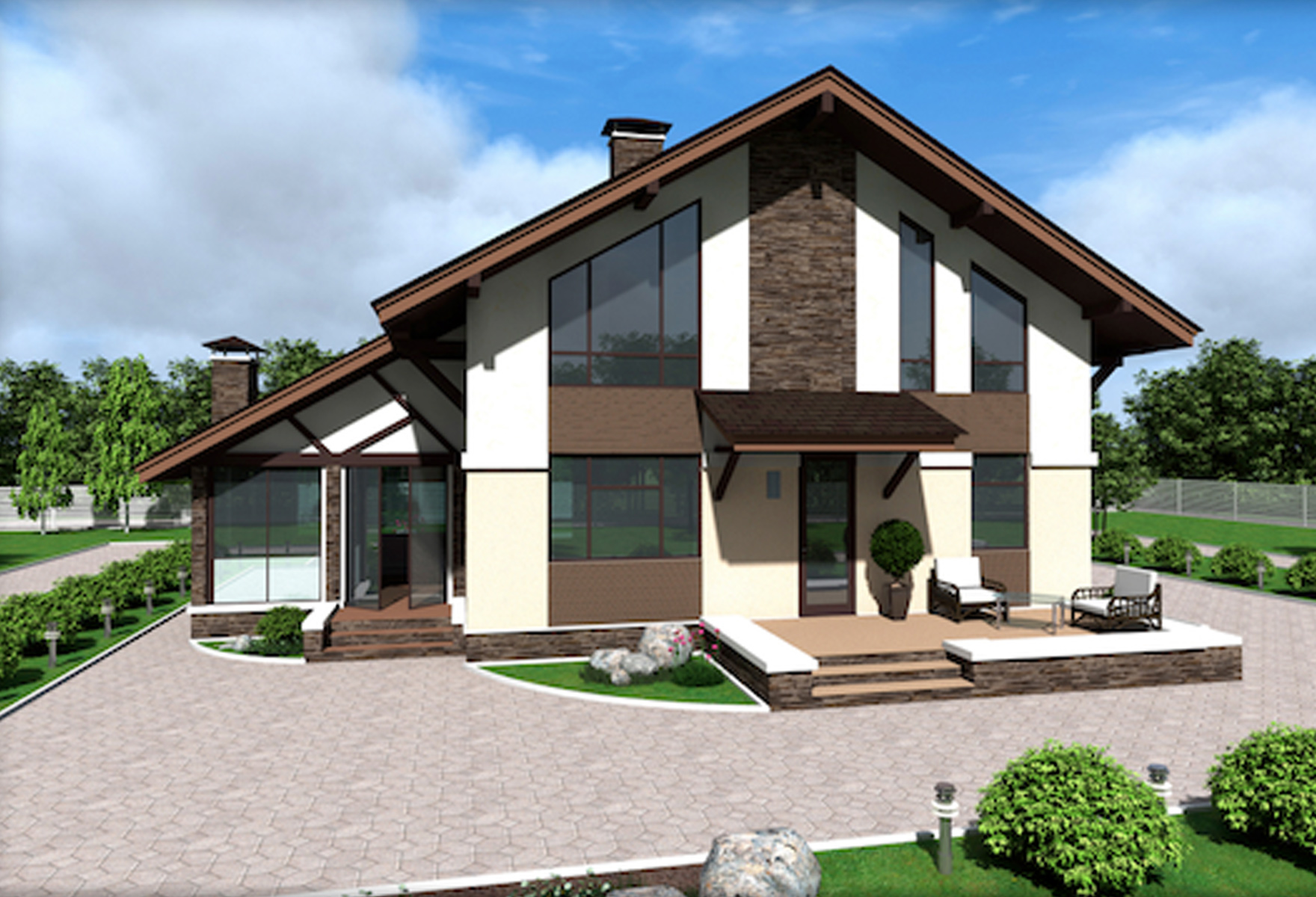 Двухэтажный дом из сип панелей «Далс» 180,5 М2
