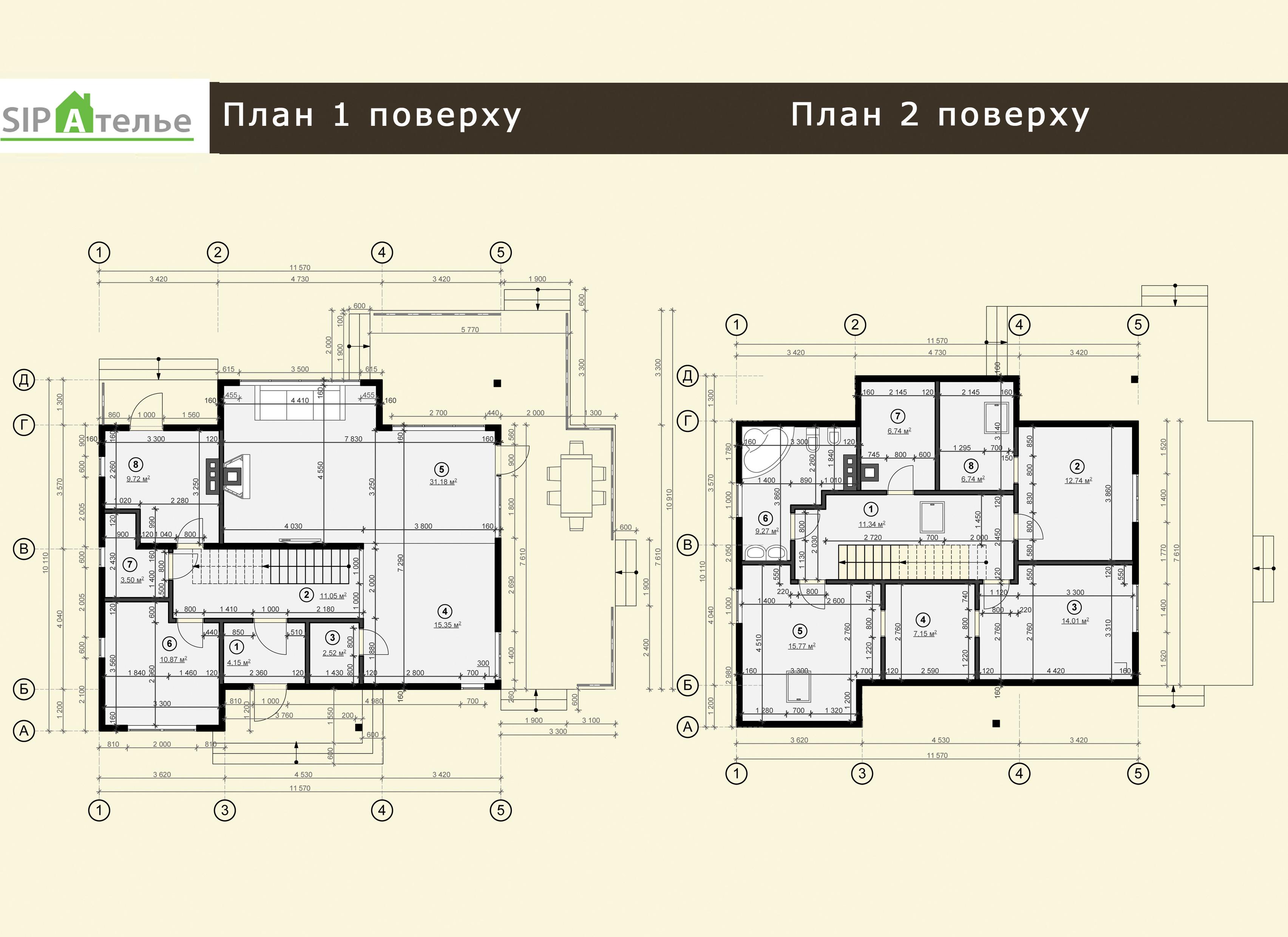 Планировка двухэтажного дома из сип панелей