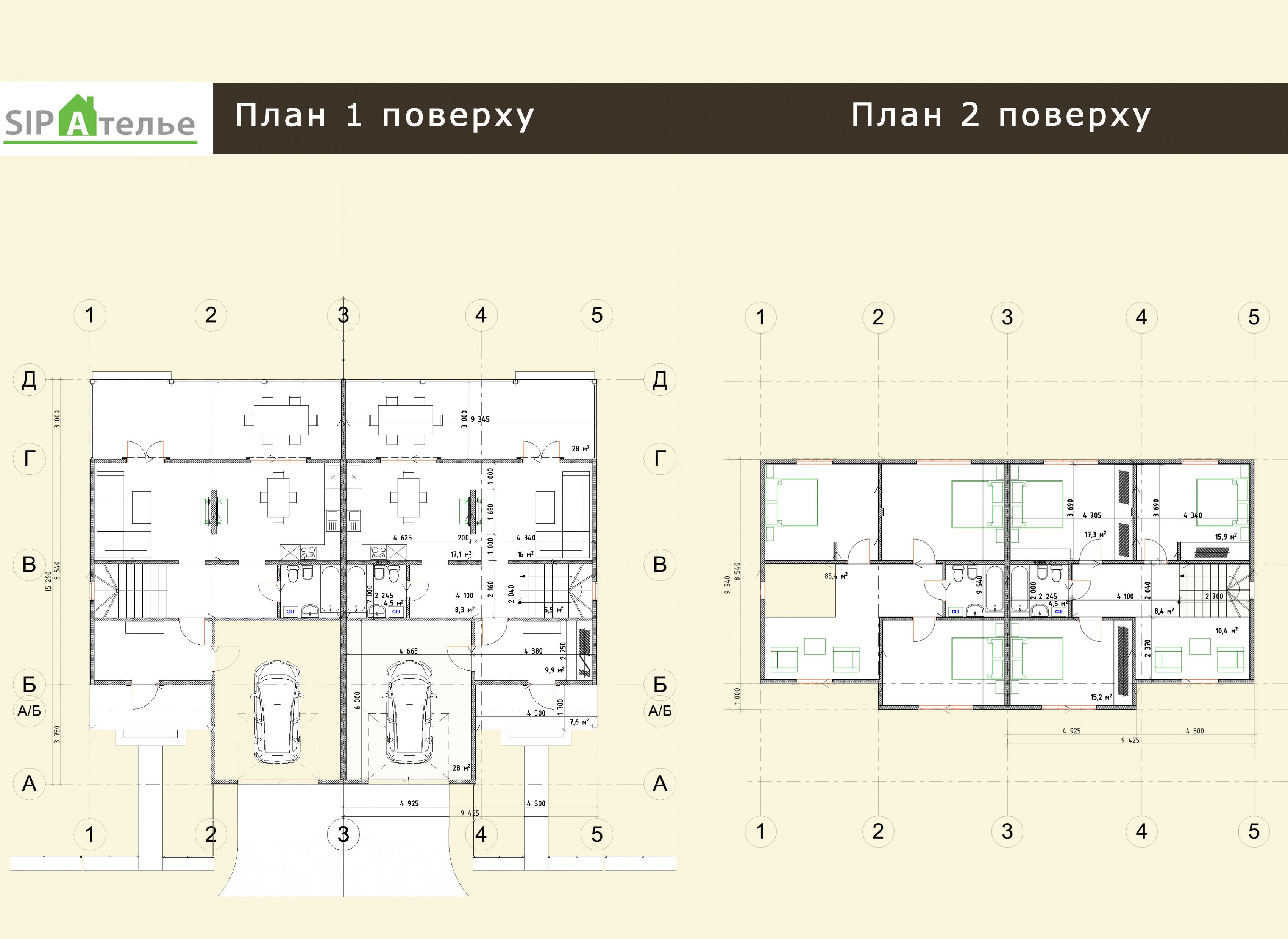 Планировка таунхауса из сип панелей 143,6 М