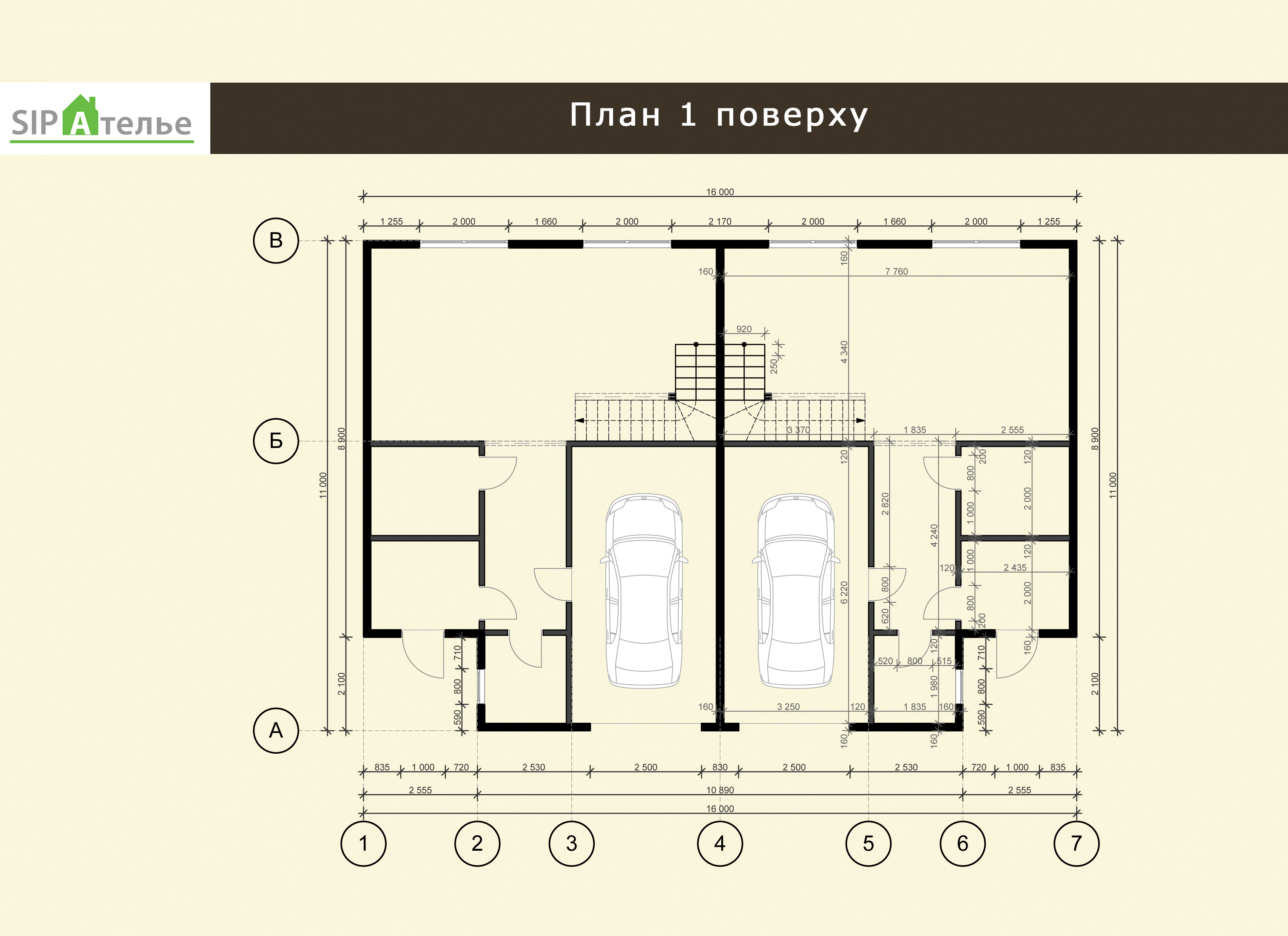 Планировка двухэтажного дома Марк из СИП панелей