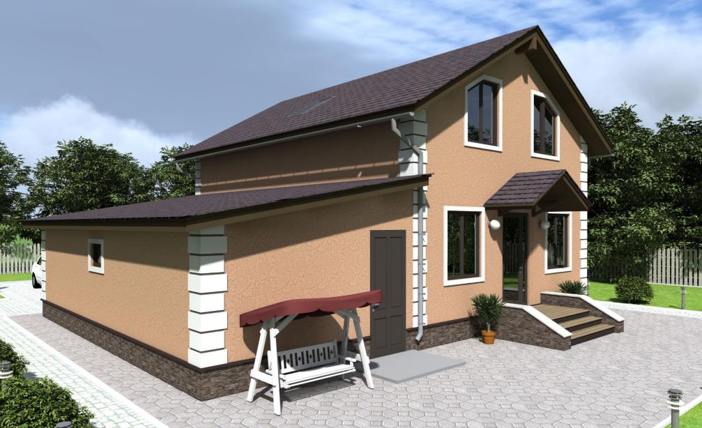 Частный жилой дом из сип панелей 191 м2