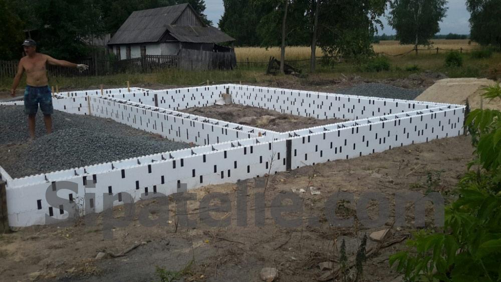 Фундаментные работы по строительству каркасного дома из СИП/SIP панелей - фото 4