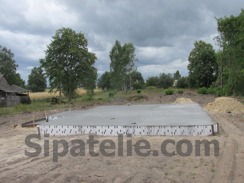 Фундаментные работы по строительству каркасного дома из СИП/SIP панелей - фото 7