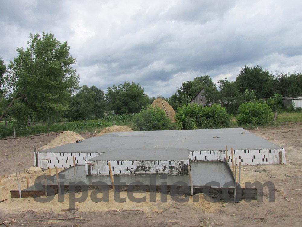 Фундаментные работы по строительству каркасного дома из СИП/SIP панелей - фото 5