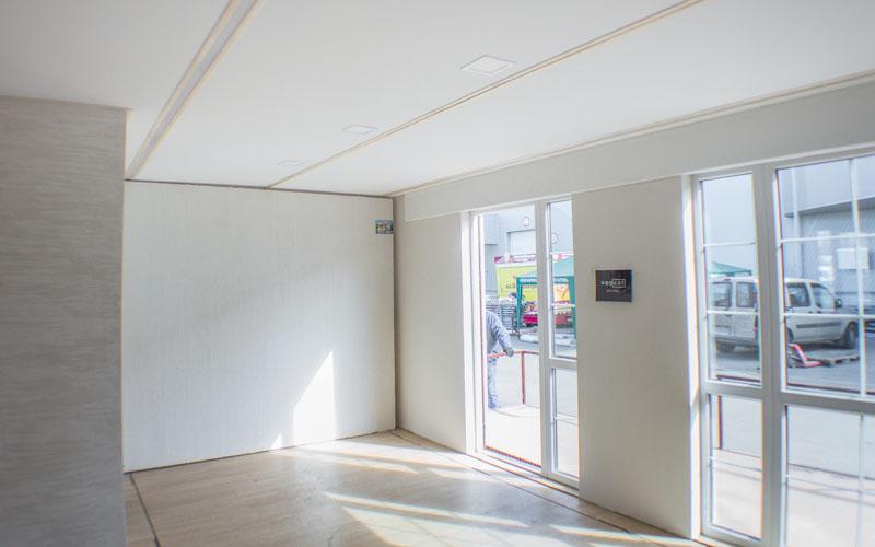 Интерьер одной из комнат мобильного дома-трансформера