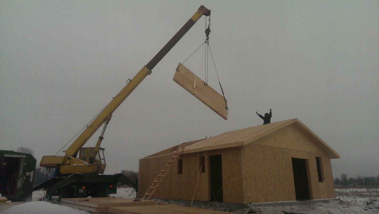 Сборка дома из сип панелей 73 кв.м. для молодой семьи в с. Рогозов - фото 1
