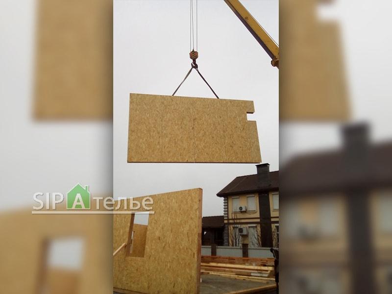 Крупноузловая сборка дома из сип панелей - фото 4