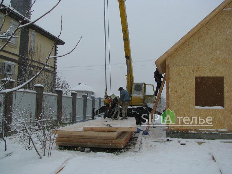 Крупноузловая сборка дома из сип панелей - фото 2
